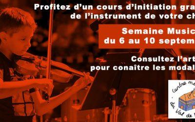 Semaine Musicale du 6 au 10 septembre